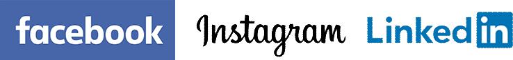 Facebook Instagram Linkedin